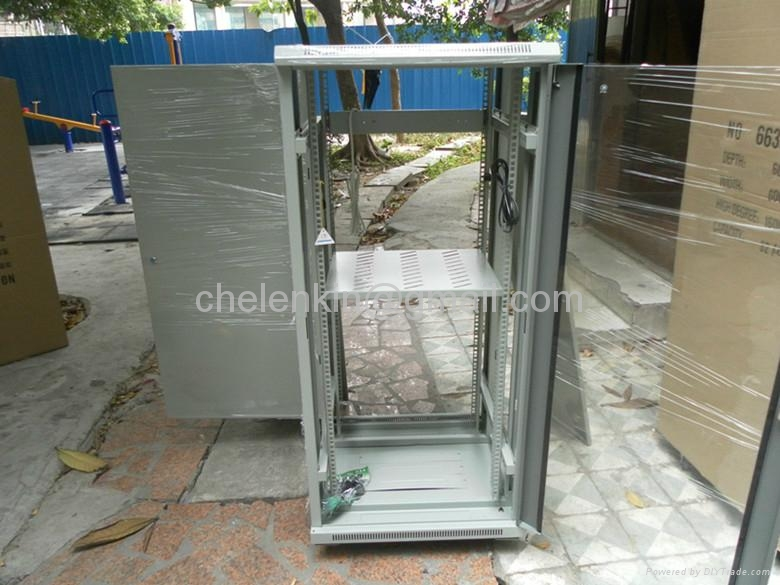 "19"" rack cabinet for fiber optic patch panels 3"