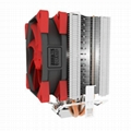 Super Silent Shock-absorbing CPU Cooler with Detachable Fan for Intel AMD 2