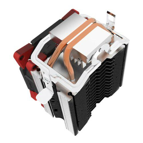 Super Silent Shock-absorbing CPU Cooler with Detachable Fan for Intel AMD 4