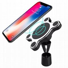 7.5W Fast Magnetic QI Wireless Car Charger Compatible all Qi-Enabled Device