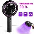 UV Disinfection Handheld Fan,Portable Three-Speed Adjustment