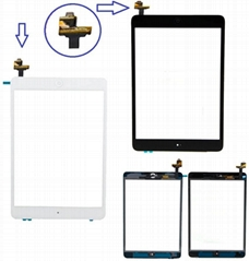 Glass Touch Screen Digitizer Complete Full Assembly For iPad Mini 1/Mini 2