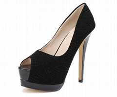 Attractive Cotton Cloth High Heel Platform for Women
