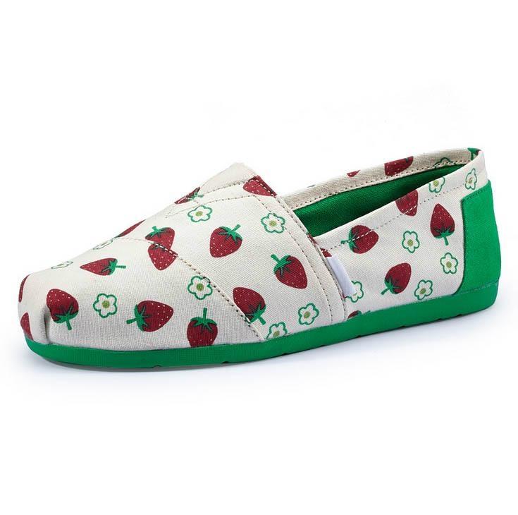 Casua Rubber Sole Flat  Slip On canvas shoes For Women 2