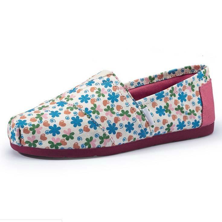 Casua Rubber Sole Flat  Slip On canvas shoes For Women 3