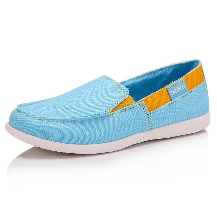 Casua Rubber Sole Flat  Slip On canvas shoes For Women 5