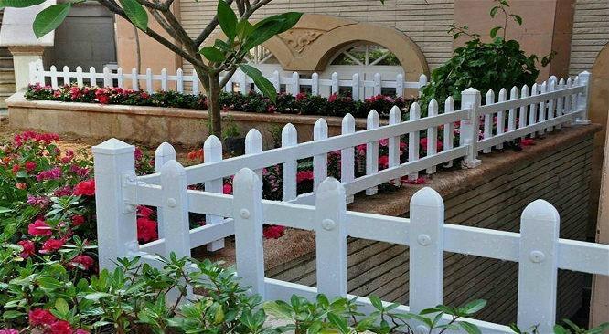 園林pvc花草護欄柵欄 3