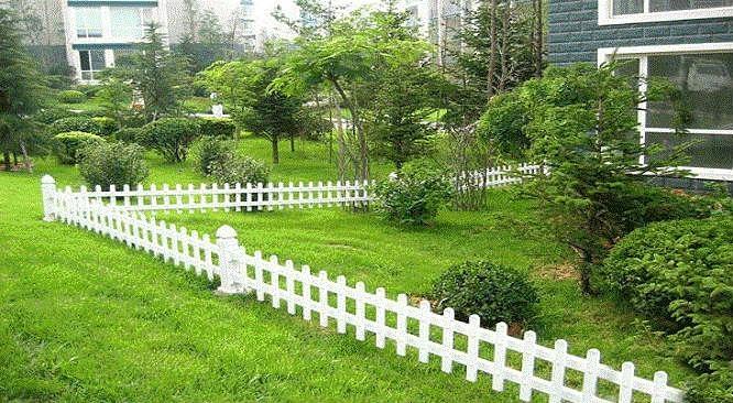 園林pvc花草護欄柵欄 5