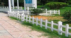 pvc塑鋼草坪圍欄塑料綠化帶護欄