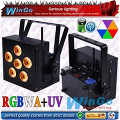 RGBWA+UV battery powered wireless dmx led light