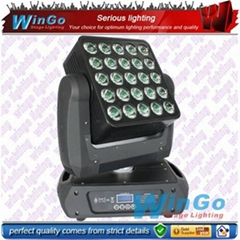 25 12w Cree quad LED array beam moving head