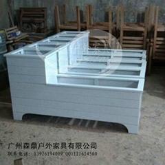 室內白色花箱