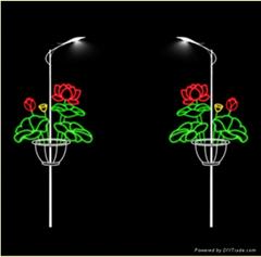 Post lamp motif light