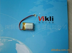 锂聚合电池302323 3.7V  无线鼠标用电池90mah