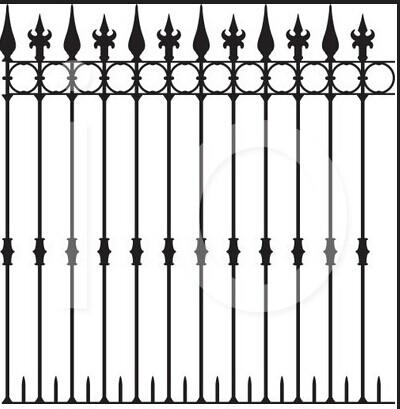 Cheap Wrought Iron Fence Panel  2