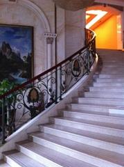 outdoor wrought iron stairway railing