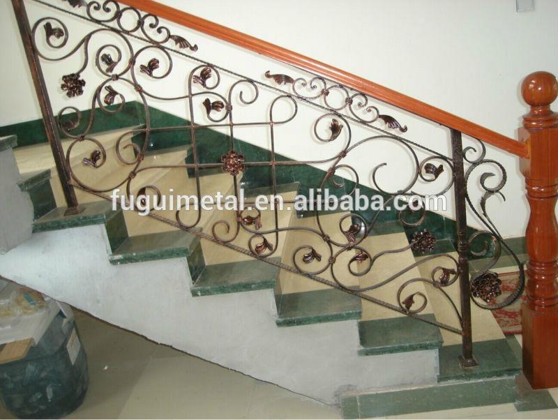 Wrought iron stair railing 2