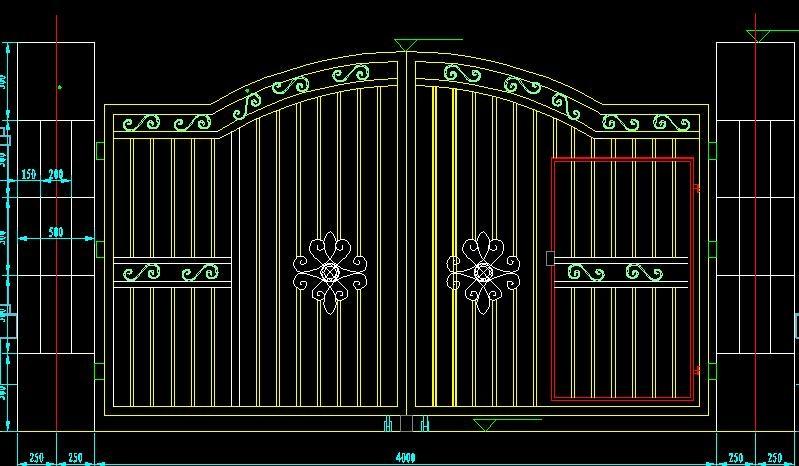 Ga  anized main house iron gate design  3
