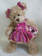 Plush teddy bear dress bear toy