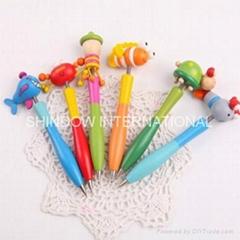 wooden cartoon ballpoint pen