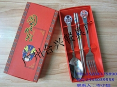 滴膠臉譜勺筷彩盒套裝