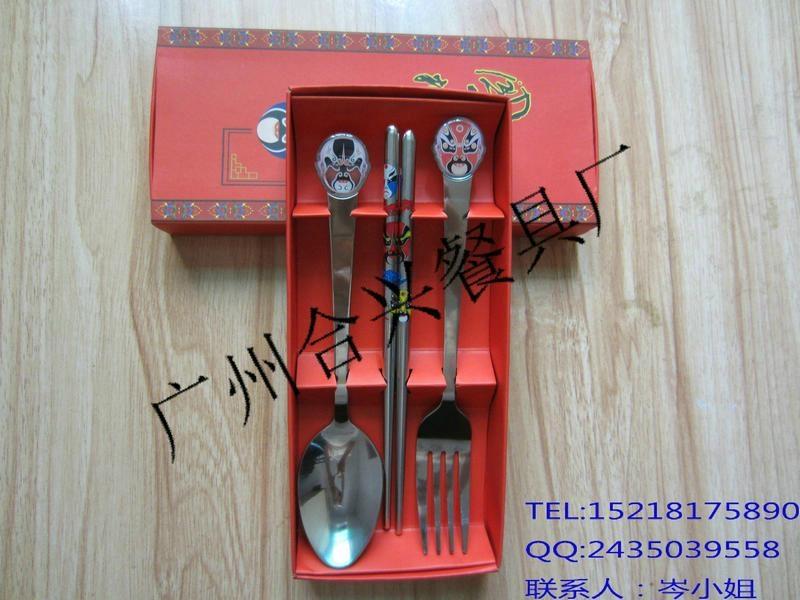 滴膠臉譜勺筷彩盒套裝 2