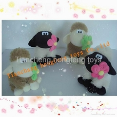shaun the sheep plush toy and stuffed toys animals sheep with flower