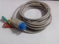 Compatible Datex 3 lead ECG cable ,snap end