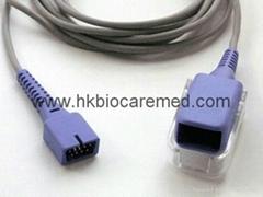 Compatible reusable spo2 extension cable