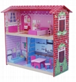 Doll house with mini furniture