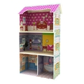 Wooden doll house baby toy