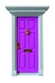 Magic door doll house accessories