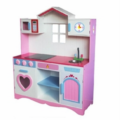 Kids big kitchen toy sets with mini furniture