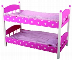 Wooden toy Doll Bed