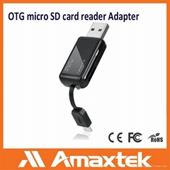Micro SD card reader adapter with OTG USB