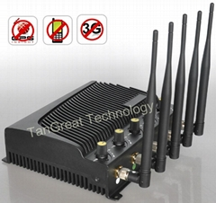 Adjustable 5Bands Cellphone Wifi 4G Jammer with Remote Control