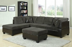 Fabric L shaped Sofas,chaise with ottoman,living room sofas,fabric sofas