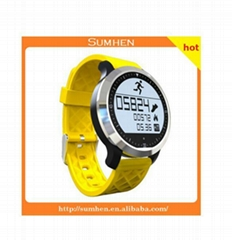 F69 intelligent watch waterproof IP67 level normally on screen with backlit hear