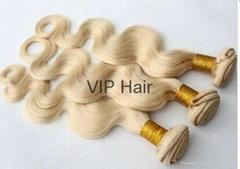 Promotion 100% Human Virgin Hair  Blond Body Wave Hair Weavings
