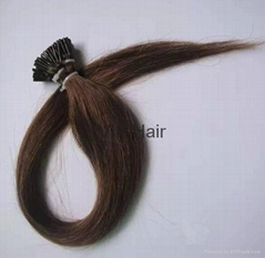 Factory Outlets 5A Indian Virgin Human Hair Straight I tip Hair Extensions