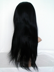 Free shipping 100% Indian Virgin Human Hair Silky Straight Full Lace Wig