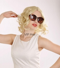 Factory Outlets Hot Sale Sexy Short Curly Blonde High Quality Synthetic Hair Wig