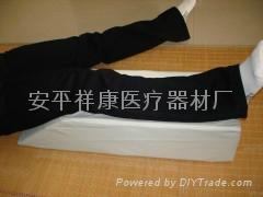 醫用下肢體位海綿墊皮革下肢墊