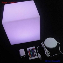illuminated led cube chair outdoor light