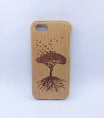 Unique Handmade Natural Wood Wooden Hard solid wood case cover for Iphone5C