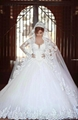 Ball Gown Long Sleeves Wedding Dress  2