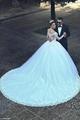 Ball Gown Long Sleeves Wedding Dress  3