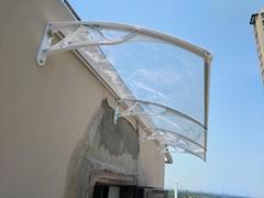 鋁合金支架雨篷靜音採光廠家直銷