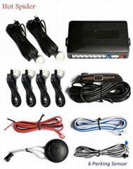 LED 6 sensors parking system