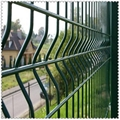 PVC coated white welded mesh fence ( factory and ISO9001 Production )